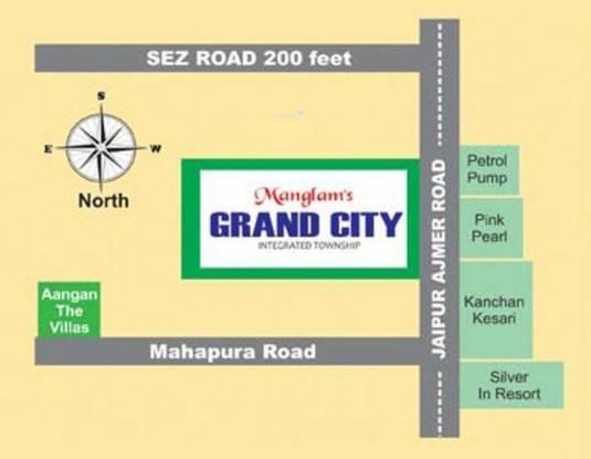 Manglam Grand City Location Plan