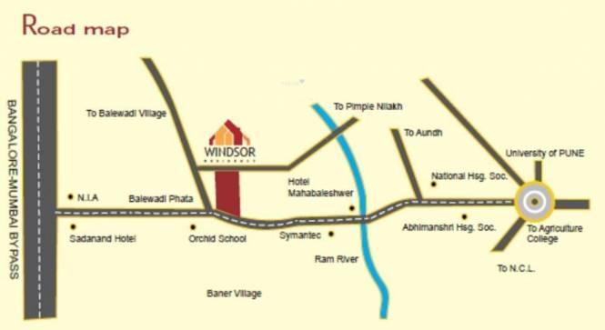 Icon Windsor Residency Villas Location Plan