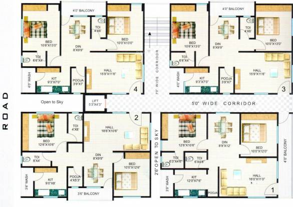 Hari Heights And Sri Nilayam Cluster Plan