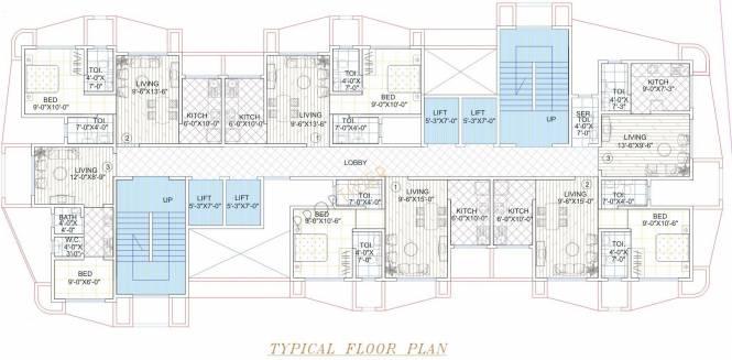 Sarah Garden View Cluster Plan