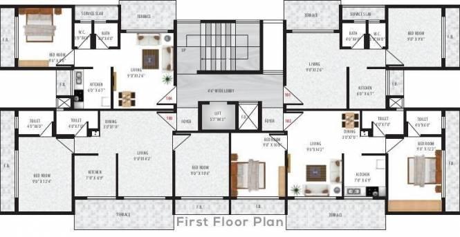 Stone Villa Cluster Plan