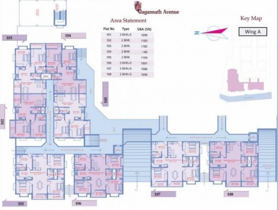Decor Jagannath Avenue Cluster Plan