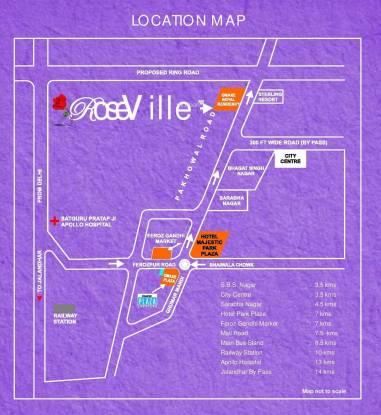 Omaxe Rose Ville Location Plan