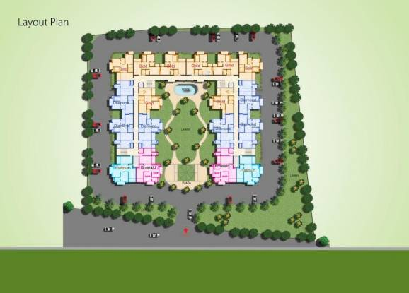 River Vrindavan Green Layout Plan