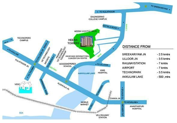 Heera Towers Location Plan