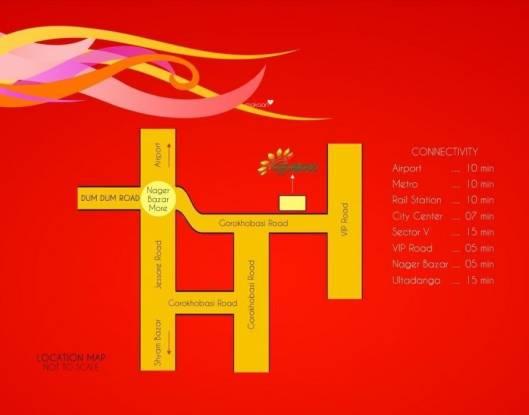 Aatreyee Ujjwainee Location Plan