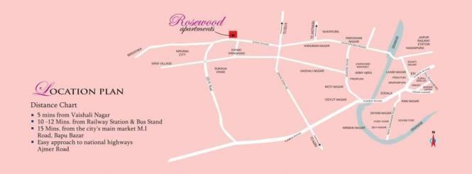 Platinum Rosewood Apartments Location Plan