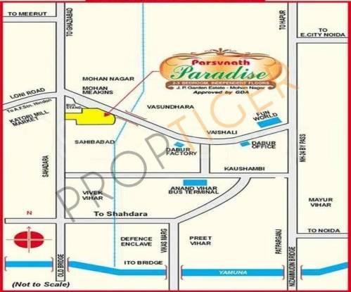 Parsvnath Paradise Location Plan