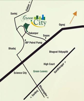 Khyati Green City Location Plan