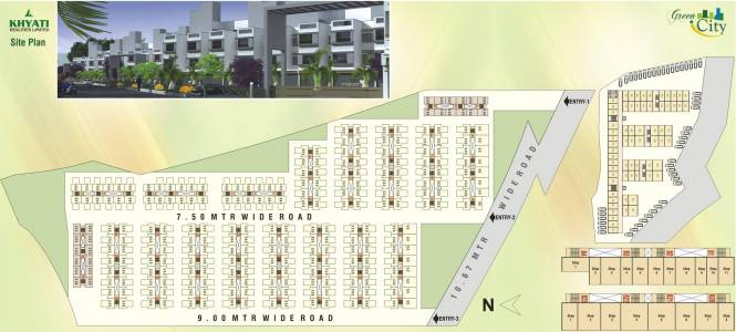 Khyati Green City Site Plan