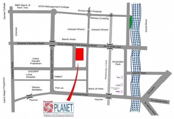 Parsvnath Planet Location Plan