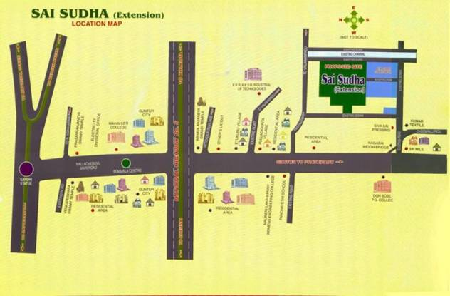 Abhinandana Sai Sudha Extension Location Plan