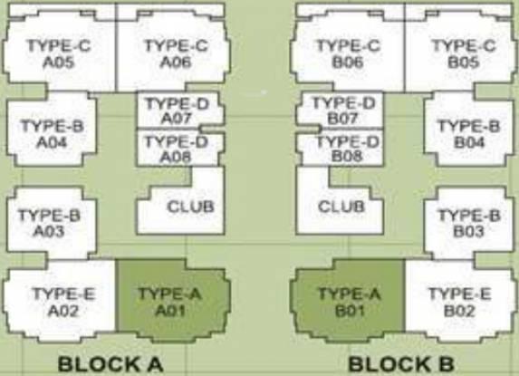 Trimurty Kohinoor Garden Layout Plan