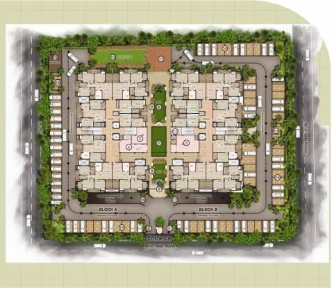 Trimurty Kohinoor Garden Site Plan