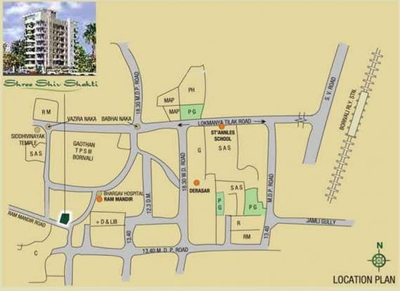 DV Shree Shiv Shakti Location Plan