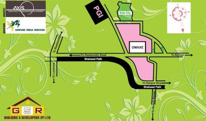 GSR Builders And Developers Kalp City Location Plan