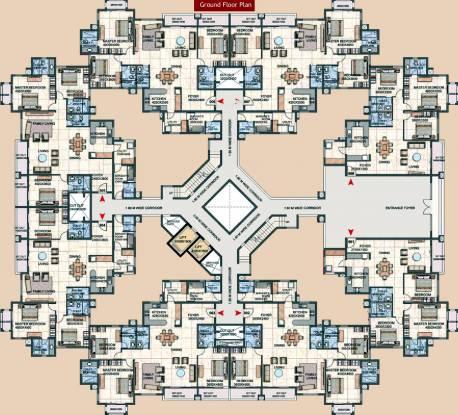 Prestige Silver Oak Apartment Cluster Plan