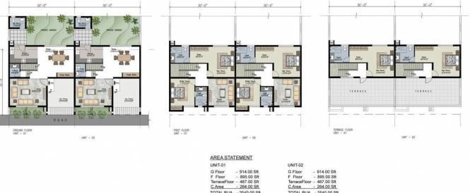 Uniworth Tranquil Villas Cluster Plan