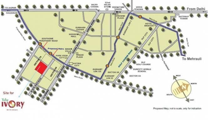 Tulip Ivory Villas Location Plan