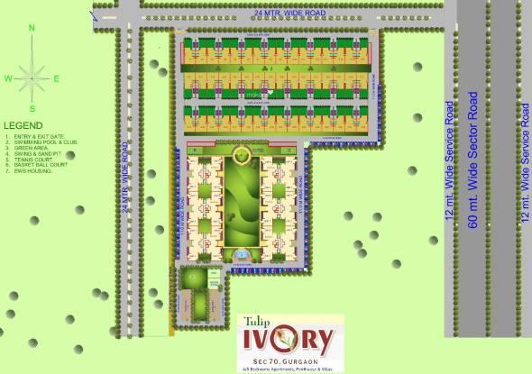 Tulip Ivory Villas Site Plan