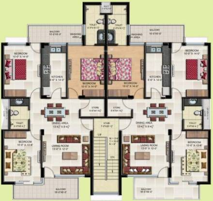 Gillco Heights Extension Floors Cluster Plan