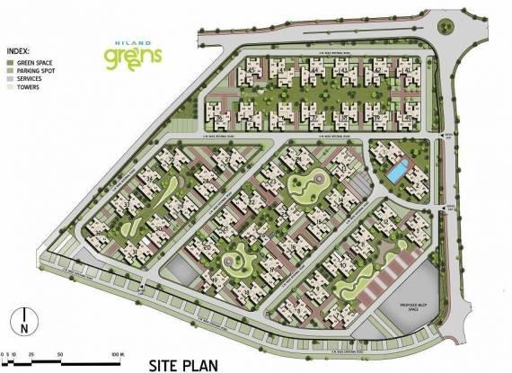 Hiland Greens Site Plan