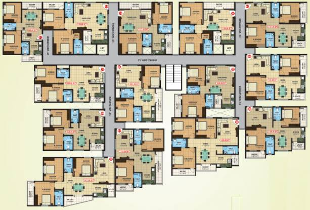 Abhee Lakeview Cluster Plan