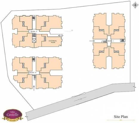 Galaxy Castello Site Plan
