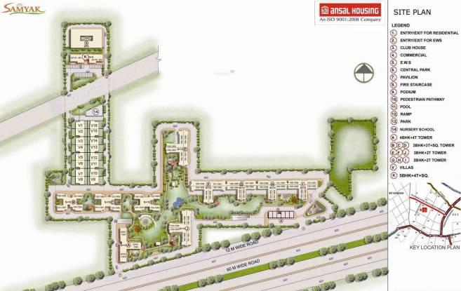 Ansal Heights II Villas Site Plan