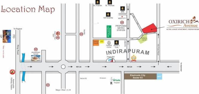 Oxirich Oxirich Avenue Location Plan