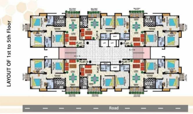Uttarayan Heights Cluster Plan