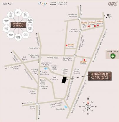 Darshanam Antica Villa Location Plan