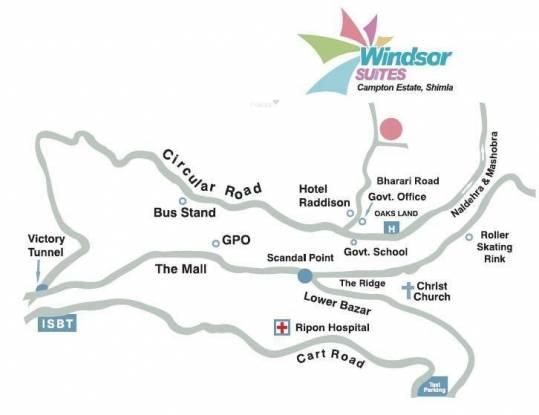Sandwoods Windsor Suites Location Plan