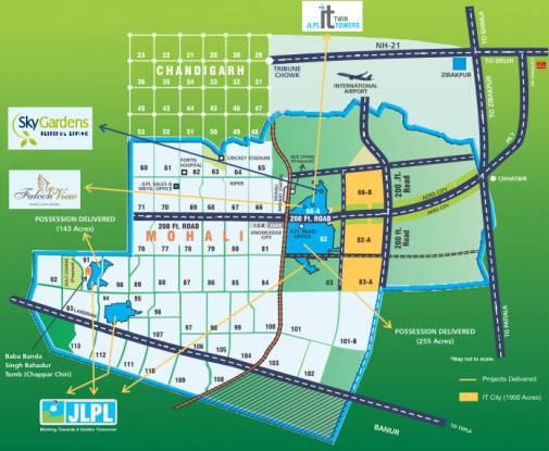 Janta Sky Gardens Location Plan