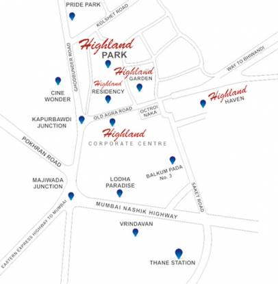 Siddhi Highland Park Location Plan