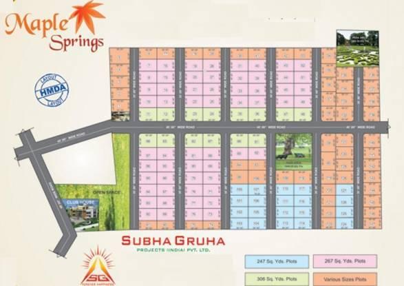 Subhagruha Maple Spring Layout Plan