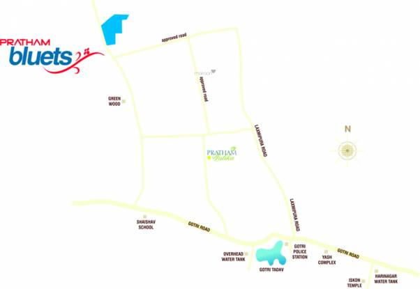 Pratham Bluets Location Plan
