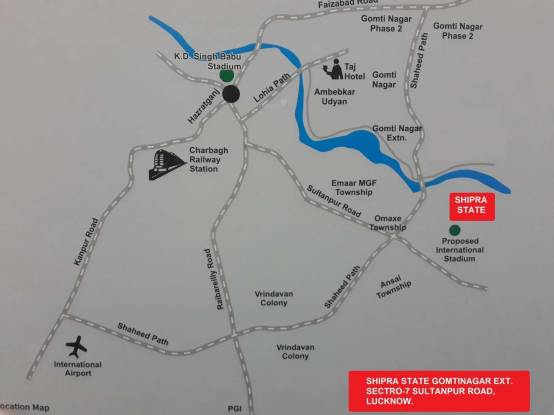Shipra World Location Plan