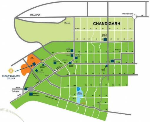 Bajwa Sunny Villas Location Plan
