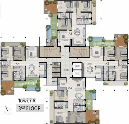 Vedic Terrace Heights Cluster Plan