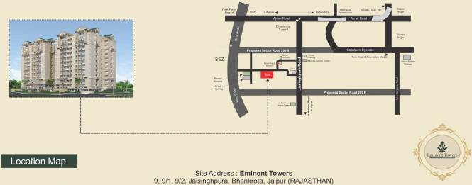 Arihant Eminent Towers Location Plan