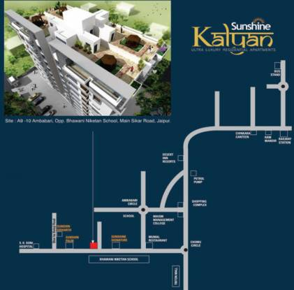 Dhanuka Sunshine Kalyan Location Plan