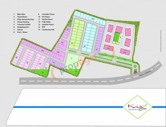 Krish Tulip Villa Layout Plan