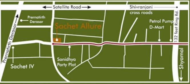 Vishwa Sachet Allure Location Plan