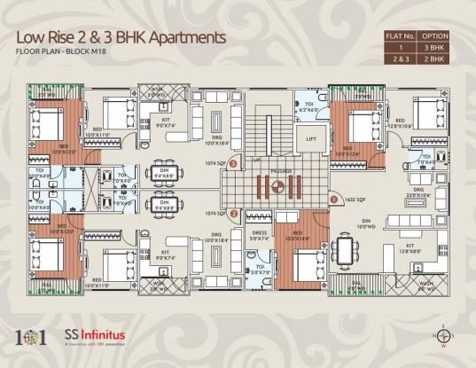 SS Infinitus Apartments Cluster Plan