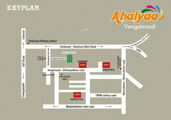 Annai Ahalyaa Location Plan
