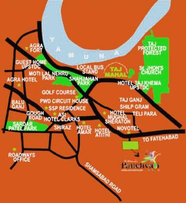 Parsvnath Panchvati Location Plan