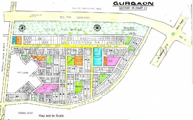 HUDA Plot Sec 15 Layout Plan