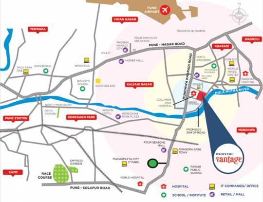 Mantri Vantage Location Plan