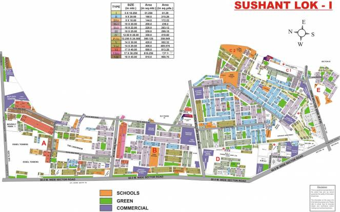Ansal Sushant Lok I Master Plan
